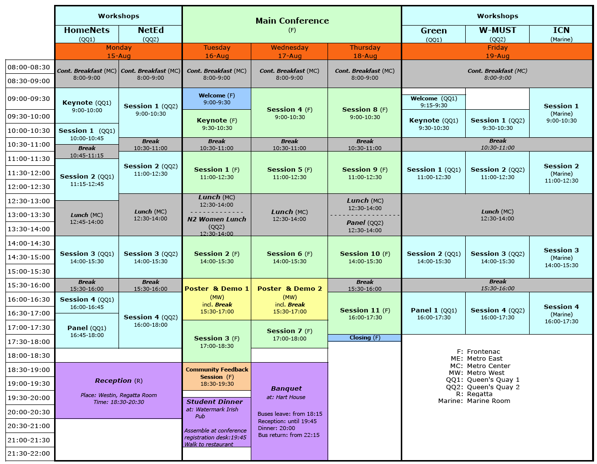 how to plan a conference schedule